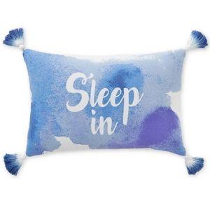 NWT Whim by Martha Stewart Blue Throw Pillow 12×28